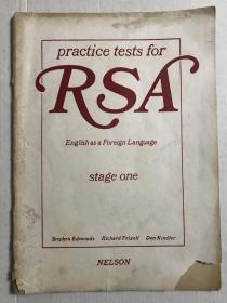 RSA英语练习测试 第一阶段