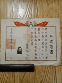 1950年北京市私立崇慈女子中学毕业证书