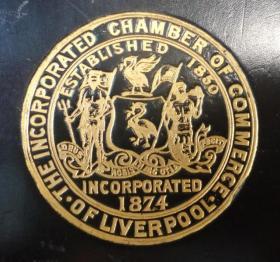 1900年 The Incorporated Chamber of Commerce of Liverpool 工商历史经典《利物浦联合商会年鉴》全原粒面小牛皮画豪华精装本 珍贵工商资料