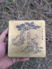 武松打虎铜墨盒