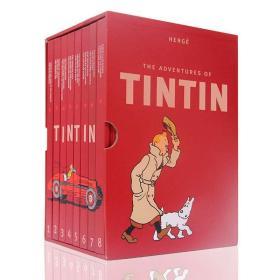 英文原版 丁丁历险记1-8册全套 精装收藏版 The Adventures of Tintin 全英文版漫画书全集 儿童英语绘本 中小学生课外读物