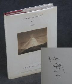 【签名本】安妮·卡森《红的自传》(Autobiography of Red: A Novel in Verse),1998年初版精装,第四次印刷,安妮·卡森签赠