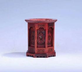 红木,镂空红酸枝八角笔筒,本店商品拍中多件只收一个邮费.,一次购买300元以上包邮 尺寸12cmx12cmx13.5cm