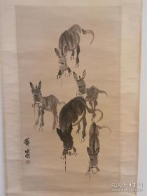 中国画艺术大师,社会活动家,收藏家。黄胄,驴