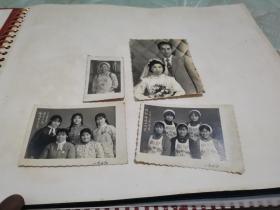 江纺(江西纺织厂)美女老照片四张。南昌东方红照相馆。纺织姑娘心向党,光辉的十五年,恰同学少年风华正茂。