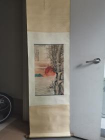 旧藏,倩菴吴湖帆款:海上生明月 江海寄余生 立轴,意境高远,功力精湛。