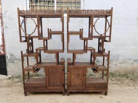 古董木艺老家具清代黄花梨多宝阁木器