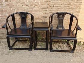 古董木艺老家具清代紫檀皇宫椅老家具