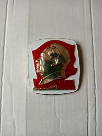 方版红旗、军舰毛主席章~(直径5.1厘米)