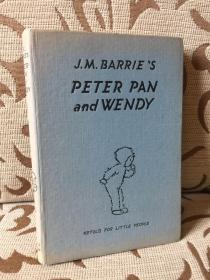 Peter Pan and Wendy by J.M.Barrie  -- 《彼得潘与温蒂》1954年老版书 Retold by May Byron for little people