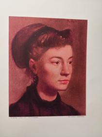 铜版画 埃德加.德加斯 年轻女儿的肖像 中田昭吉雕版大藏省印刷局凹版印刷