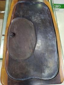 实木茶台,估计有二十多斤(台面有条裂缝,如图)
