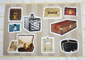 LOUIS VUITTON MALLETIER 定制明信片 古董行李箱