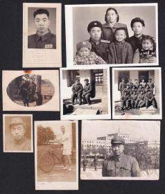 开国上校从八路军至干部下连当列兵和文革家庭老照片10张(尺寸约3.6*4.6-9.6*11厘米)1453