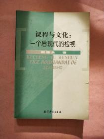 课程与文化 一个后现代的检视【2002年1版1印】