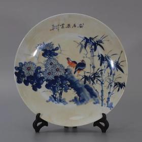 安居乐业图瓷盘
