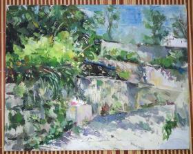 手绘布面油画:无款20190830-31(风景 30x24 布面画板)