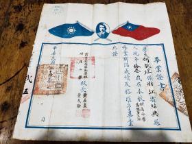 民国时期——  四川省立绵阳师范学校附属小学——毕业证书