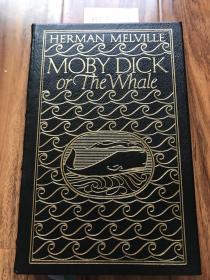 """近全新!【现货在美国家中、2周左右到国内、全国包顺丰】Moby-Dick,《白鲸记》,Herman Melville / 赫尔曼• 麦尔维尔(著),伊东书局出版的 """"有史以来最伟大的100本书"""" 之一,Collector's Edition / 收藏版,1977年出版(请见实物拍摄照片第5张版权页),精装,厚册,615页,豪华全真皮封面,三面刷金,珍贵外国文学参考资料!"""