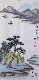 【自写自销】当代艺术家协会副主席王丞手绘 !江南春早20236