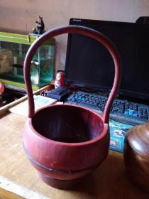 老木桶----------口16底14腹21高32cm