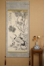 回流字画 回流书画《松竹梅龟鹤》佚名 纸本 日本回流字画 日本回流书画