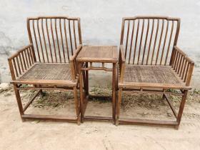 古董古玩黄花梨老家具梳背椅