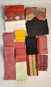 日本回流和服腰带及小配带12根特价处理D2459