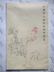 精美红楼梦信笺:木板水印红楼12张,线条流畅,印刷精美。尺寸33*20.5cm