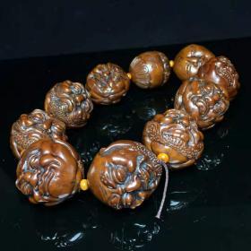 橄榄核雕刻十八罗汉手持尺寸:直径35mm,重210克