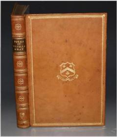 1907年 POEMS BY THOMAS GRAY 伊顿公学私印本《托马斯•格雷诗歌集》名坊全小牛皮豪华装祯 重磅手工纸 16开超大本 配补威廉•布莱克(William Black)绝美彩图多张 品上佳 送礼佳品