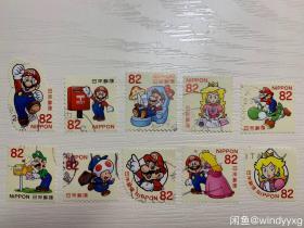 日本卡通邮票 超级玛丽马里奥10枚全