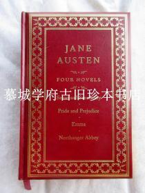 全皮精装/三面书口烫金《简·奥斯汀小说四种》:《傲慢与偏见》、《理智与情感》、《艾玛》、《诺桑觉寺》 JANE AUSTEN: EMMA / PRIDE AND PREJUDICE / NORTHANGER ABBEY
