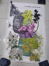 屈绍铿  手绘画,画心102 x 60