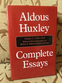 Aldous Huxley complete essays volume I 1920-1925 -- 《赫胥黎散文全集之卷一》精装本