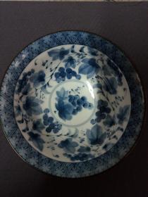 日本回流圣窖款满青花碗