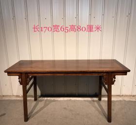 花梨木书案,条案,可做书桌,素雅秀气,六棱腿,起股起线,端庄大气,品相完好尺寸如图