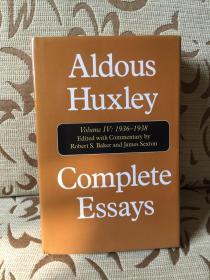 Aldous Huxley complete essays volume IV 1936-1938 -- 阿道司 赫胥黎散文全集 卷四  精装本