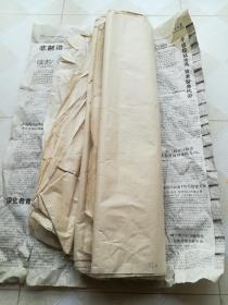 民国老竹纸57张,尺寸76*50公分