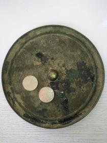 大个素圈古铜镜包真
