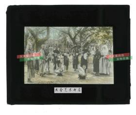 清代民国玻璃幻灯片-----民国时期教会修女和收养的孤儿儿童老玻璃幻灯
