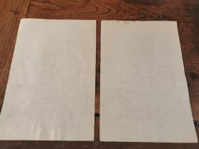 民国仕女笺2张,26.5*17.8cm