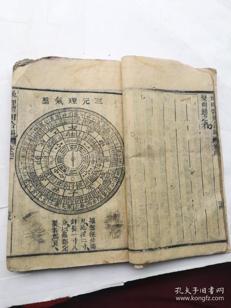 稀见地理风水书,地理体用合编卷四。九十九个筒子页一厚本全。