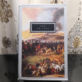 WAR AND PEACE (3 VOLUMES Boxed Set) 战争与和平 3册函套版 Leo Tolstoy 列夫·托尔斯泰 everyman's library 人人文库 英文原版 布面封皮琐线装订 丝带标记 内页无酸纸可以保存几百年不泛黄