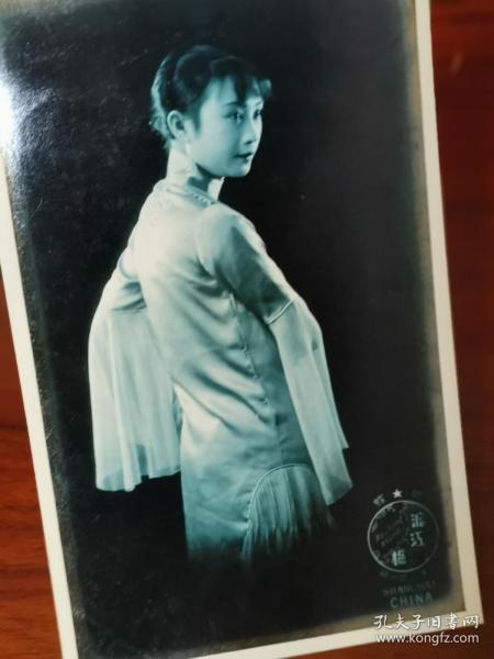 民国沪江摄影胡蝶照片版明信片(强烈泛银)