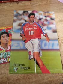 足球海报 体育世界1999/23期 带海报 巴乔 舍甫琴科