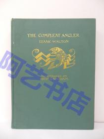 1931年美国初版《The Compleat Angler--垂钓大全》,古籍珍本,著名插画家拉克姆(Arthur Rackham)的多幅彩色插图