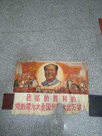 团结的胜利的党的第九次全国代表大会万岁(大文革2开宣传画)
