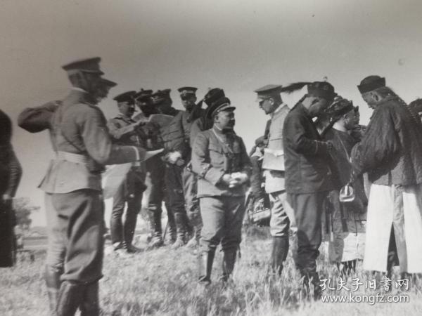 清末民国时期新军袁世凯于天津小站练兵时原照老照片一张