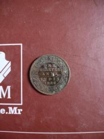 外国硬币荷属印度1926年1/4安那,全场拍够五十元包邮发货